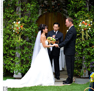 In keeping with their scaled-down style, Ann-Marie walked down the aisle unescorted, and the couple had a short ceremony with only traditional vows.
