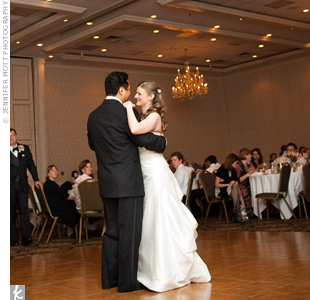 "Amy and Lawrence's first-dance song was, appropriately enough, ""I Hope You Dance,"" by Lee Ann Womack."