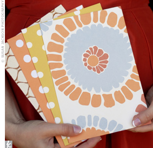 Orange DIY Ceremony Programs
