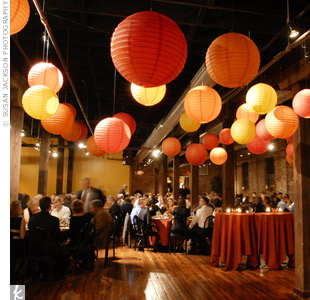 orange paper lantern decor