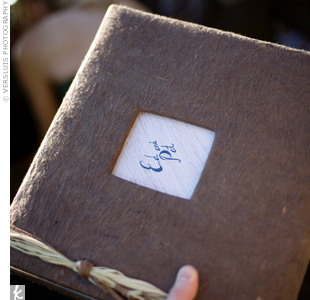 A few hours before the reception, the grooms' families surprised the couple with a handmade album containing photos of them that documented their childhoods and their relationship.