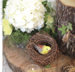 Bird Nest Centerpieces
