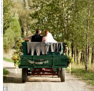Rustic Wedding Wagon