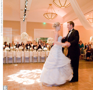 "The band played Frank Sinatra's ""The Best Is Yet to Come"" for the couple's first dance. Sinatra songs filled the first two hours of the reception, followed by big-band style music to encourage more dancing."