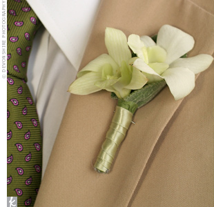 Freesia Wedding Boutonniere