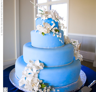 Blue Fondant Wedding Cake