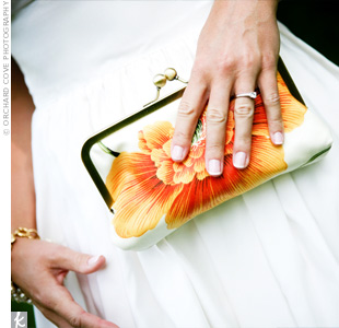 Orange Wedding Clutch