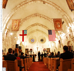 A family friend served as the officiant for the traditional Christian ceremony, which took place in the chapel at the Ancient Spanish Monastery.
