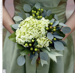 Green Hydrangeas Bouquets