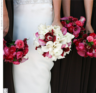 Burgundy Wedding Bouquets