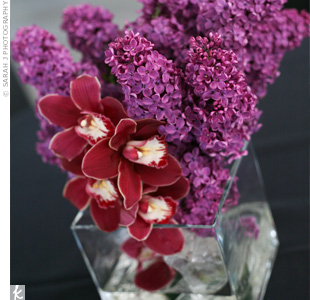 Burgundy Centerpieces