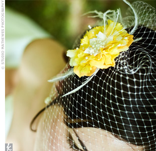 Yellow Birdcage Veil