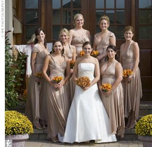 Champange Bridesmaid Dresses