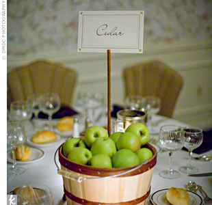 Types of Green Apple's http://www.theknot.com/weddings/photo/green-apple-centerpieces-62990