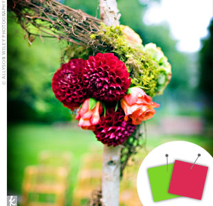 Pink + Lime Green