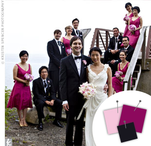 Pink + Bergundy + Black