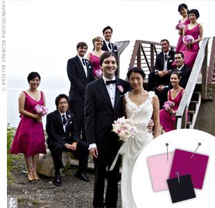 Pink + Bergundy + Black > See more pink wedding details > See more black wedding details > See more pink and black wedding details