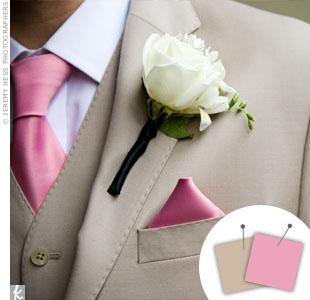 Pink + Khaki > See more pink wedding details > See more brown wedding details > See more pink and brown wedding details