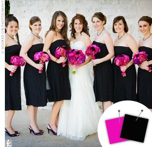 Hot Pink + Black > See more pink wedding details > See more black wedding details > See more pink and black wedding details
