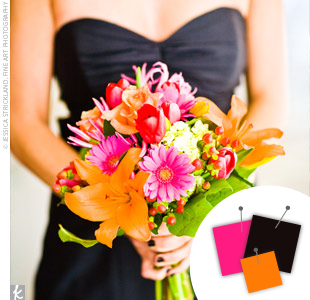 Hot Pink + Orange + Black