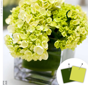 Light Green + Dark Green > See more green wedding details