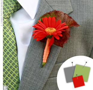 Green + Gray + Red > See more green wedding details > See more gray wedding details > See more red wedding details > See more green, gray, and red wedding details