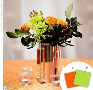 Lime Green + Orange > See more green wedding details > See more orange wedding details > See more green and orange wedding details