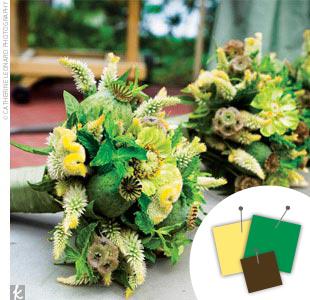 Green + Light Green + Dark Green > See more green wedding details