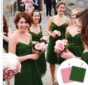 Dark Green + Pink > See more green wedding details > See more pink wedding details > See more green and pink wedding details