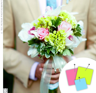 Light Green + Pink + Light Blue > See more green wedding details > See more pink wedding details > See more blue wedding details > See more green, pink, and blue wedding details