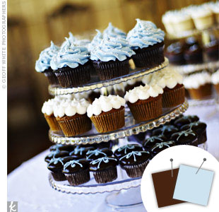 Light Blue + Chocolate
