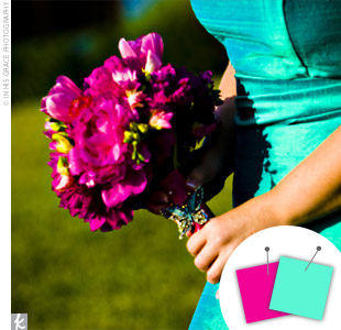 Turquoise Blue + Fuchsia