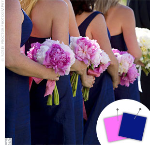 Navy + Pink