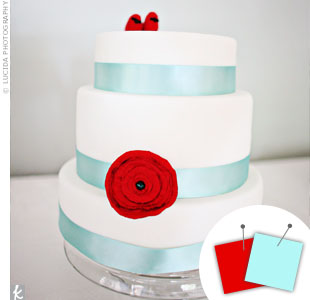Aqua Blue + Red