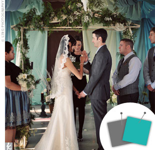 Wedding Color Combo: Turquoise Blue + Gray