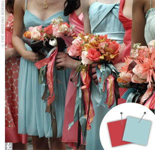 Mint Blue + Rose