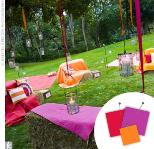 Purple + Hot Pink + Orange