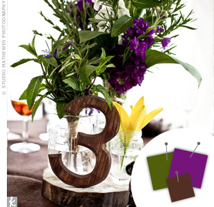 Purple + Green + Brown