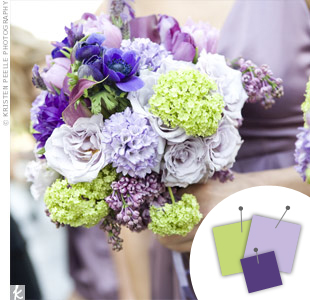 Purple + Lavender + Light Green
