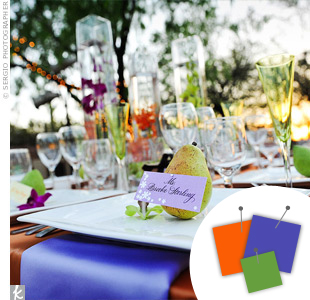 Purple + Orange + Lime