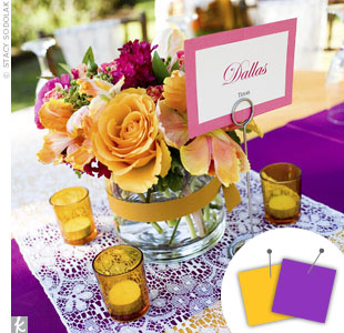 Purple + Yellow
