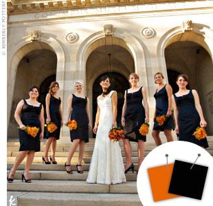 Orange + Black > See more orange wedding details > See more black wedding details > See more orange and black wedding details
