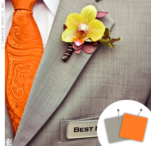 Orange + Gray > See more orange wedding details > See more gray wedding details > See more orange and gray wedding details