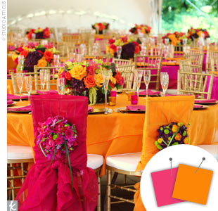Orange + Hot Pink