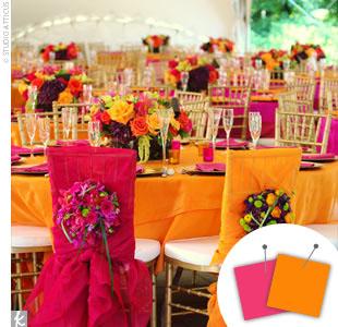 Orange + Hot Pink > See more orange wedding details > See more pink wedding details > See more orange and pink wedding details