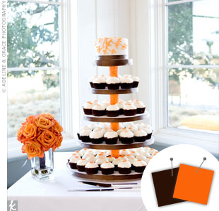 Orange + Chocolate Brown