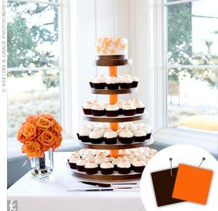Orange + Chocolate Brown > See more orange wedding details > See more brown wedding details > See more orange and brown wedding details