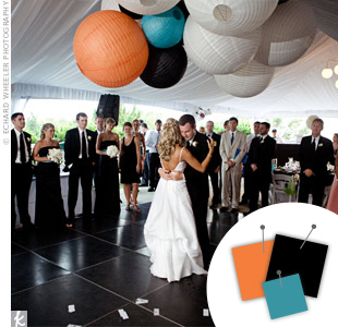 Orange + Black + Turquoise