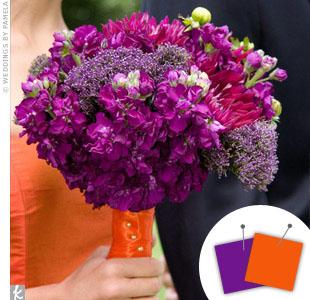 Orange + Purple > See more orange wedding details > See more purple wedding details > See more orange and purple wedding details