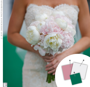 White + Blush + Emerald